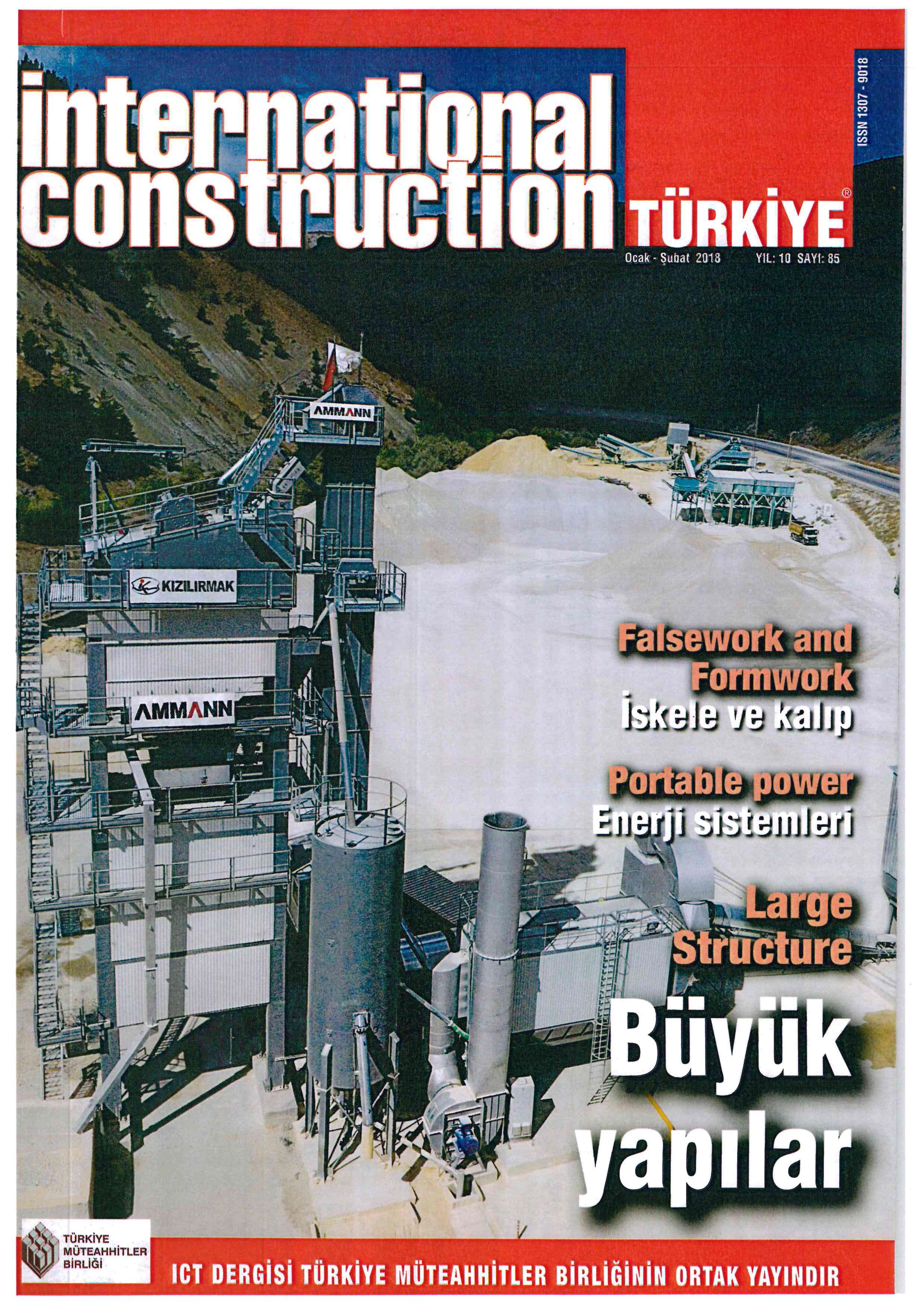 kızılırmak inşaat,kızılırmak,inşaat sektörü,dergi,büyük yapılar,yol,tünel,şantiye,international construction,türkiye,yol yapım,makina parkı
